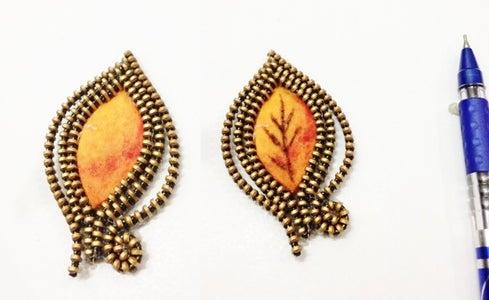 Autumn Leaf Charm