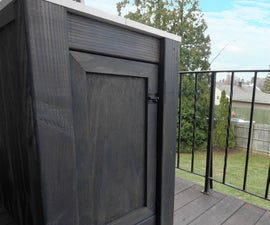 Outdoor Workbench with Internal Wood Storage