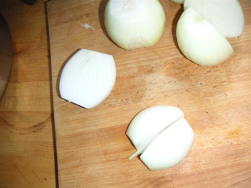 Picture of First, Chop Your Onions Coarsely.