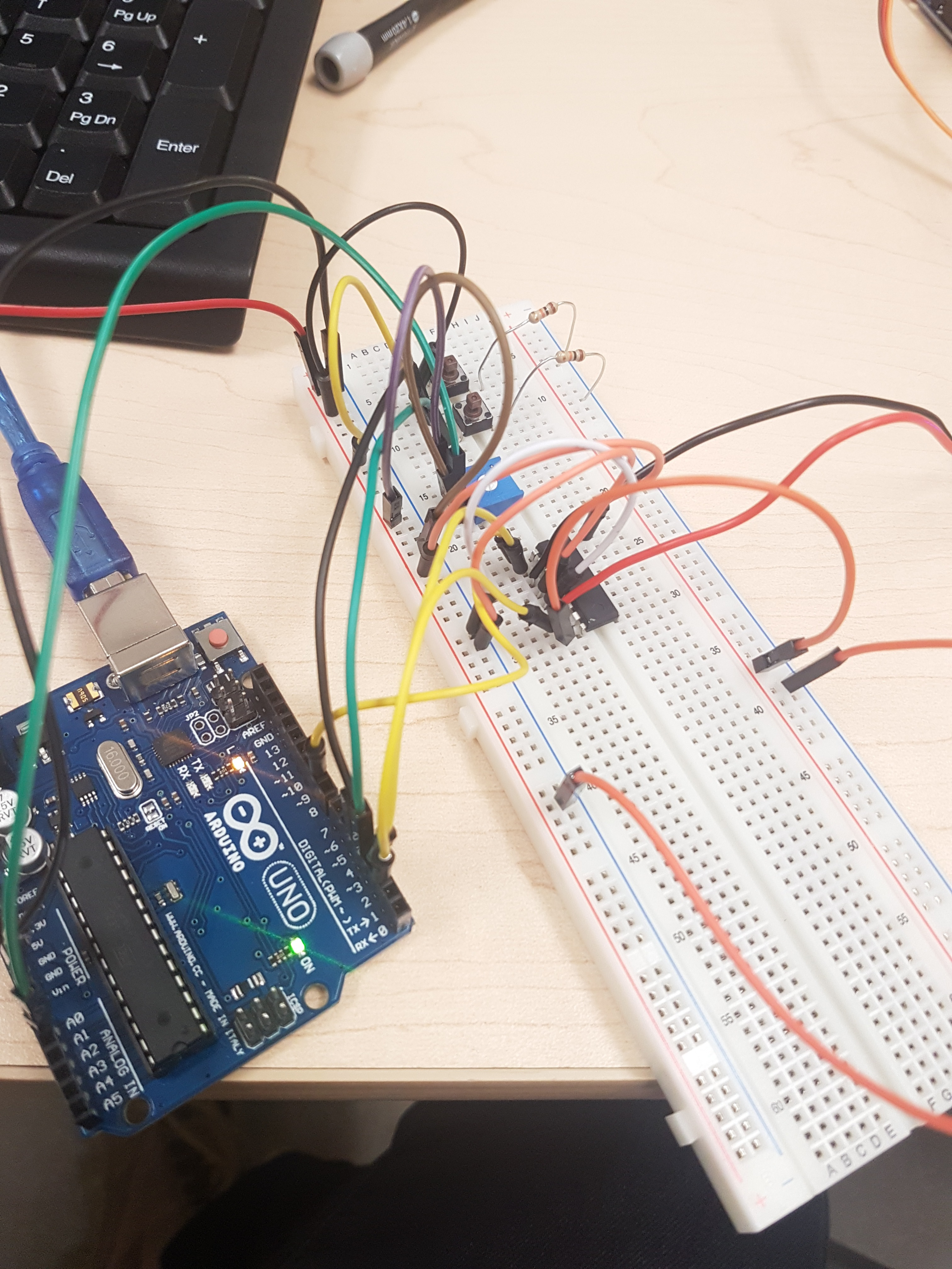 Picture of Adding the Potentiometer and H-Bridge