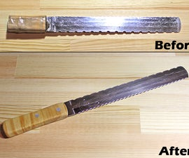 How to make a bread knife handle