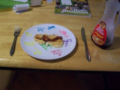 Serving the Baconpancakes