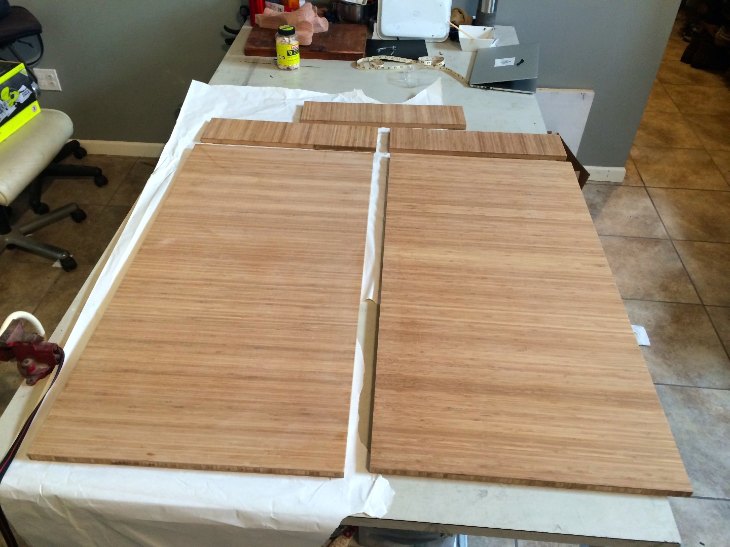 Picture of Cut Plyboo to Size on Table Saw