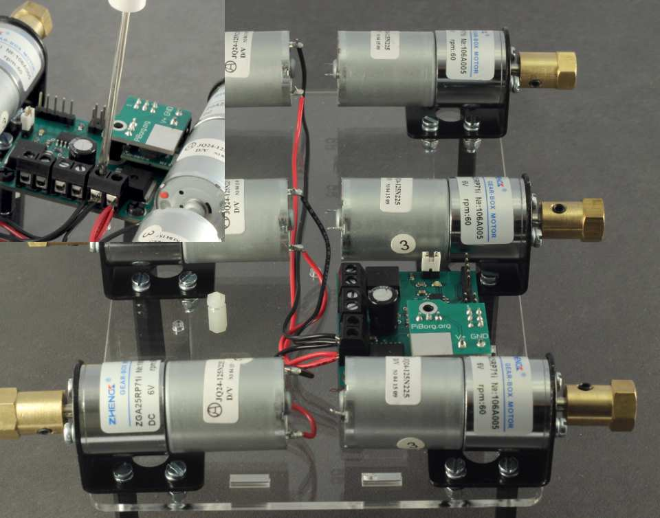 Picture of Wiring the Same 3 Motors on One Side With the Black Wires.