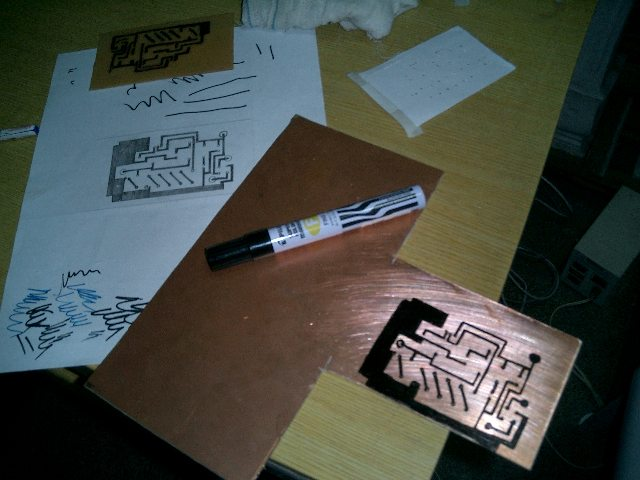 Picture of Drawing in the Copper Clad Board