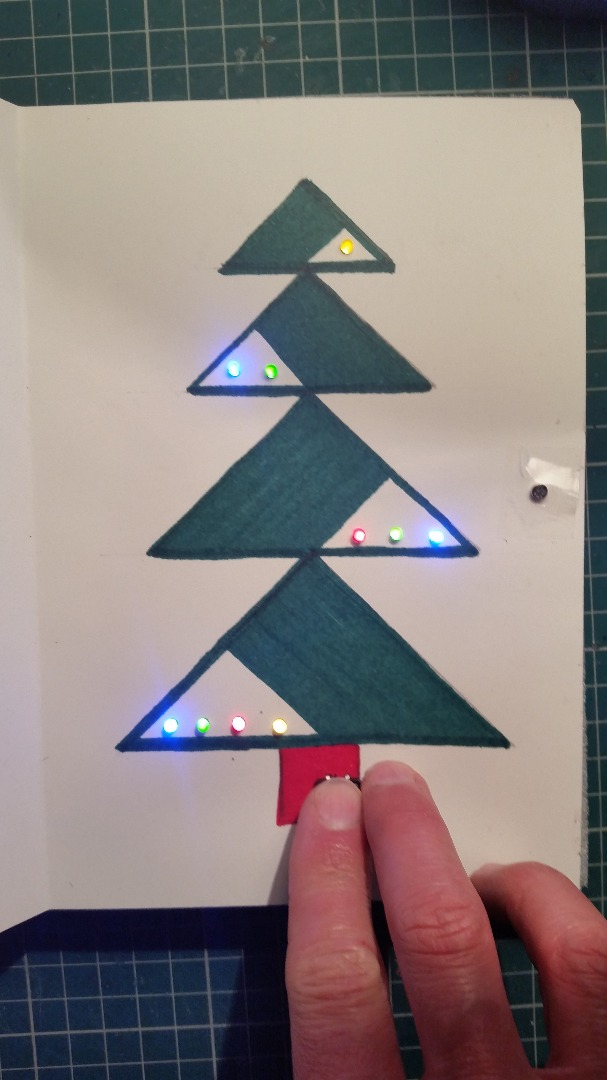 Picture of Christmas Card With Colored LEDs