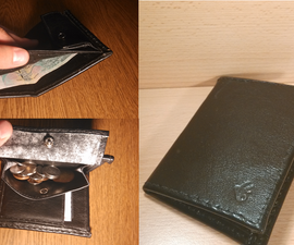 Custom Leather Wallet with Burned Logo