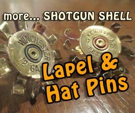 Shotgun Shell Jewelry 2.0 Lapel and Hat Pin
