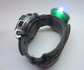 Tactical Flashlight Wristwatch