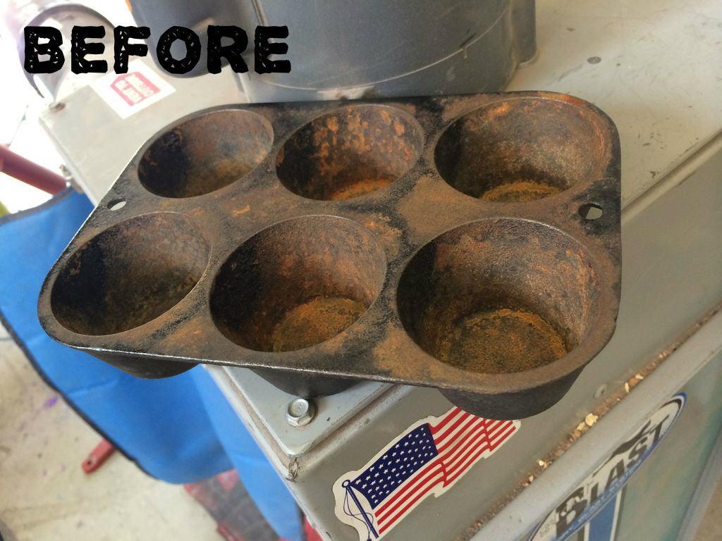 Sandblasting Rusty Cast Iron Cookware Instructables