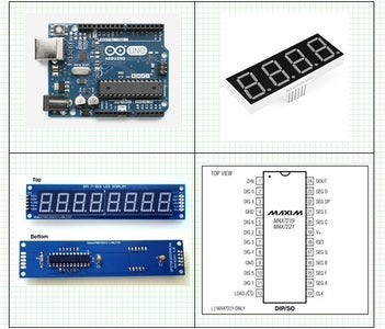 Arduino and MAX7219, 8 Digit, 7 Segment  BCD Counter