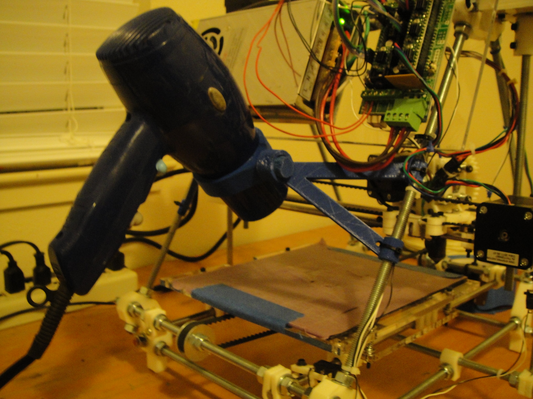 Picture of Development of a 3D Printed Part - Prusa Mendel Hair Dryer Heated Bed Mount