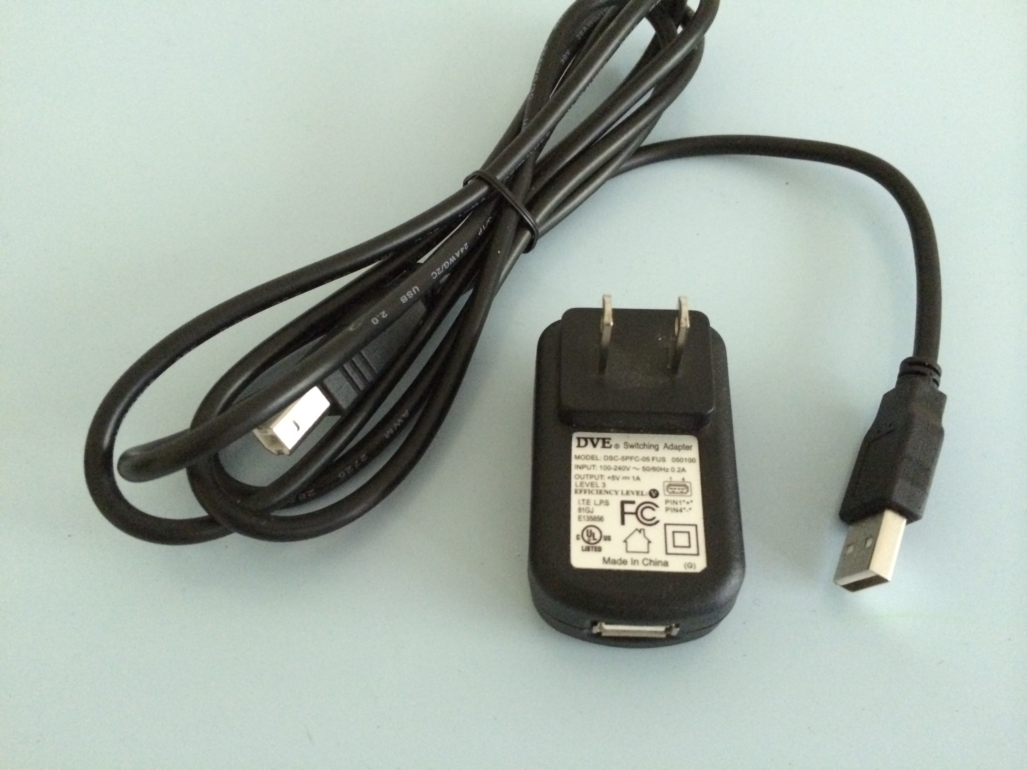 Picture of Find a Male USB and a USB Charger/power Supply