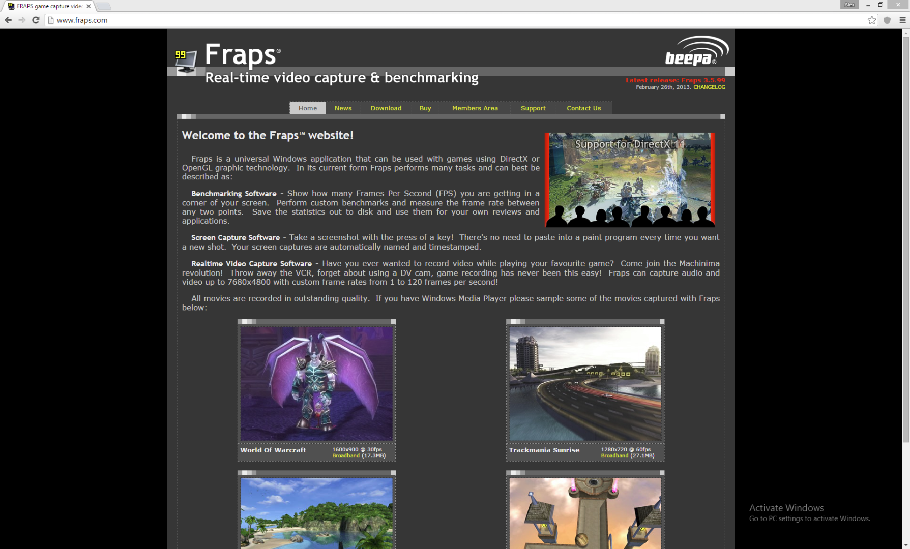 Picture of Download Fraps