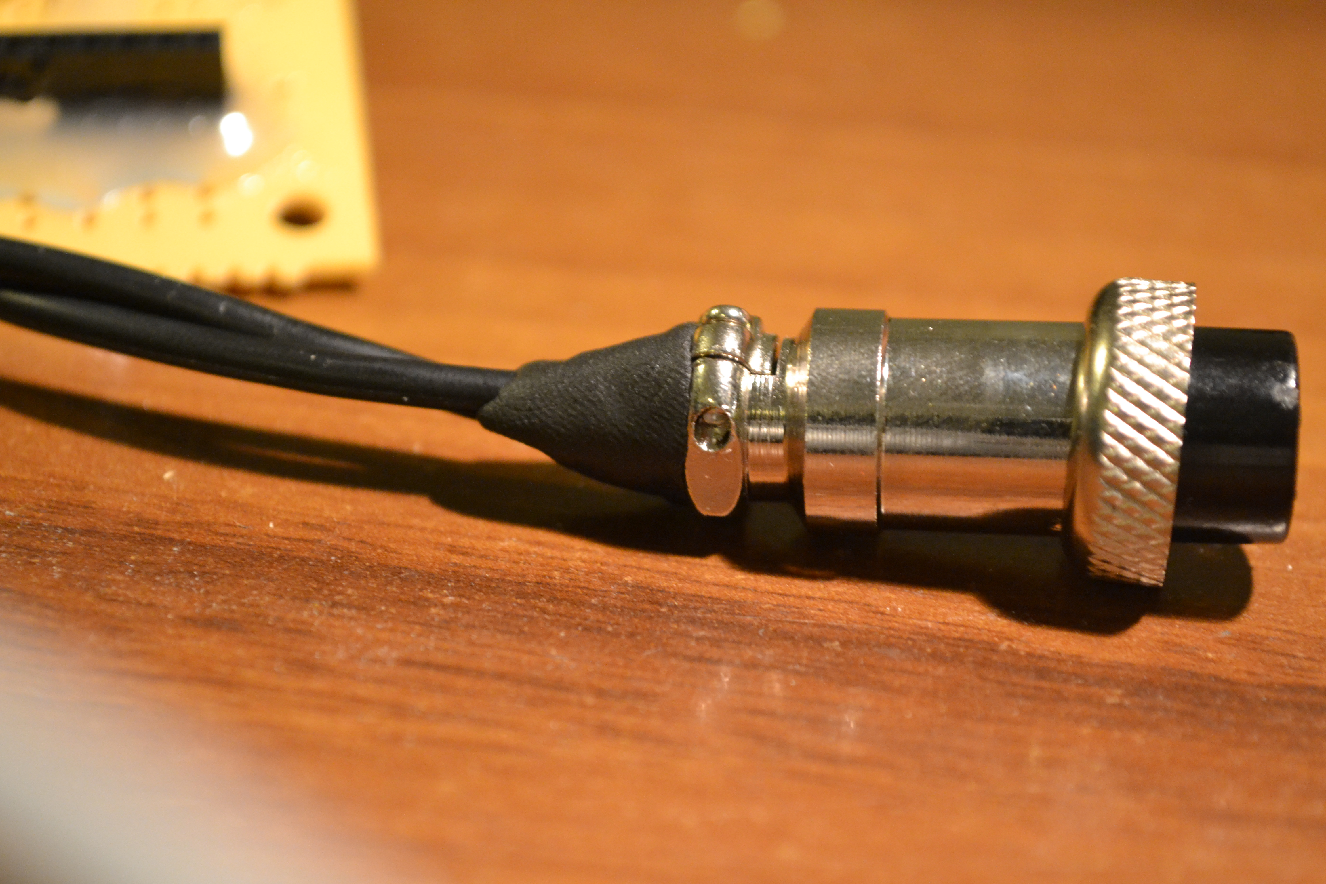Picture of Hardening 8-pin Ham Radio Mike Connector With Sugru
