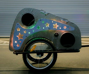 Solar Powered Disco Bike Trailer