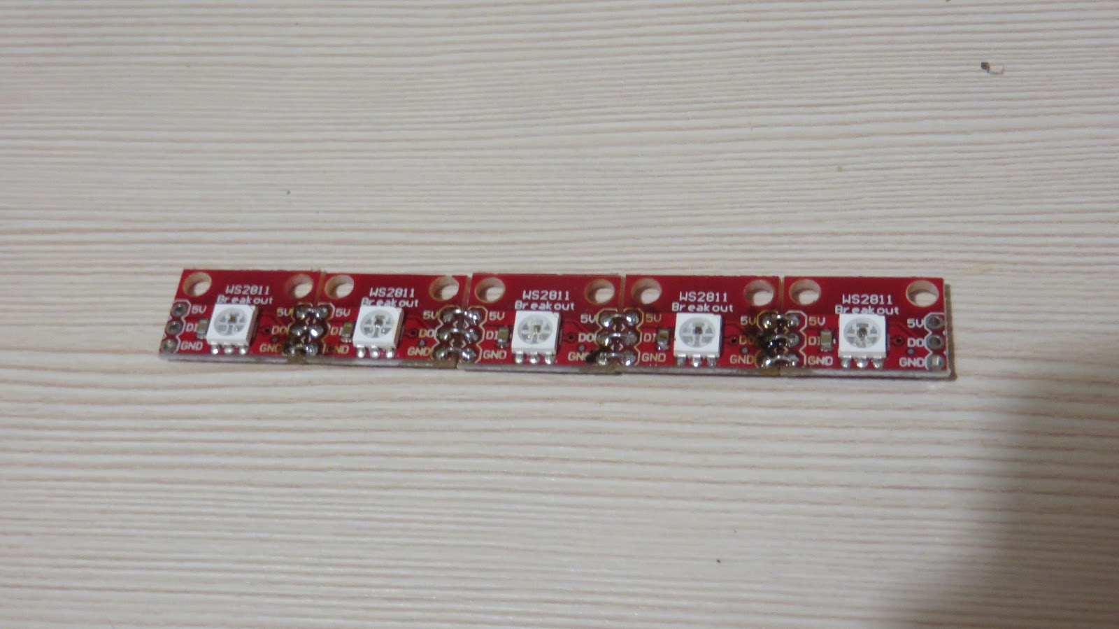 Picture of Assembly: LED Strip Composition.