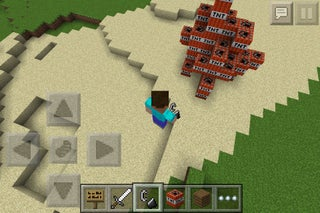 How to Make a Dynamite Cannon in Minecraft PE