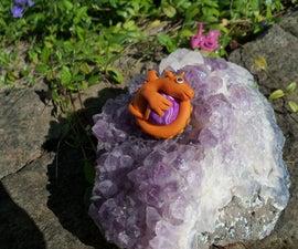 Polymer Clay Dragon Pendant