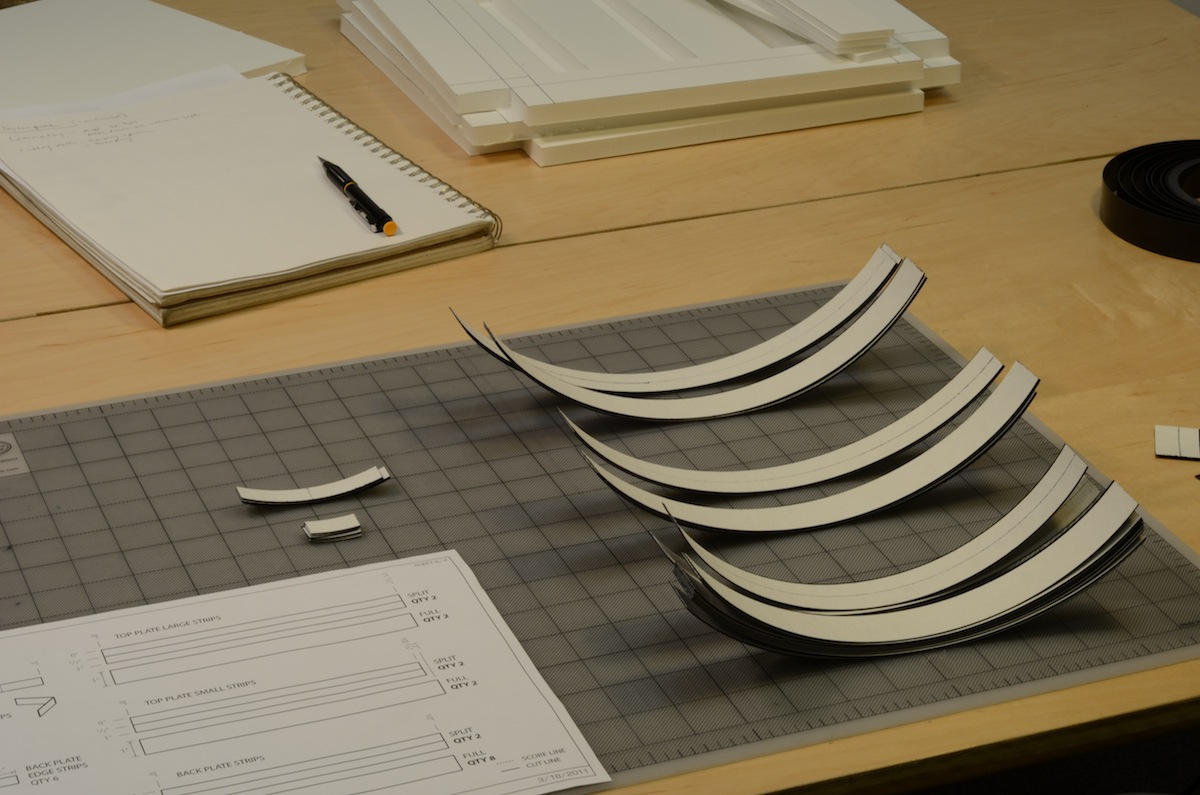 Picture of Laminate and Cut Delrin Strips