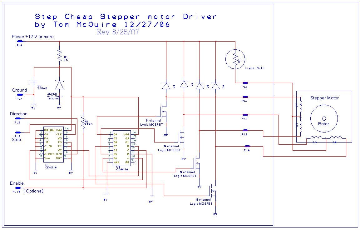 Stepper Motor Simple Circuit Arduino Page 8 Microcontroller Circuits Nextgr Easy To Build Cnc Mill And Driver 6 Steps