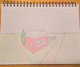 How to Draw a House in 2-Point Perspective