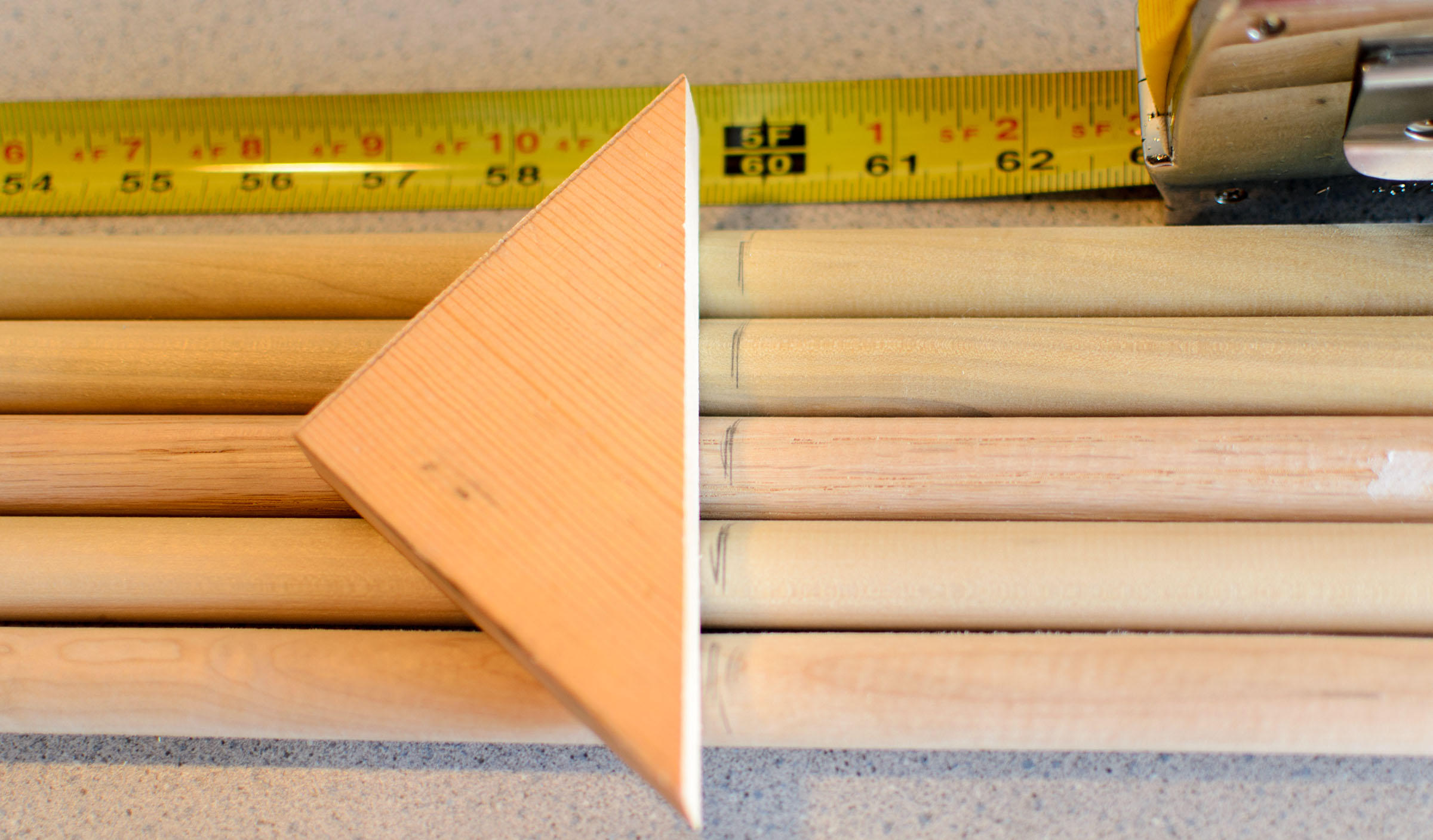 Picture of Cut Dowels to 5-ft Length
