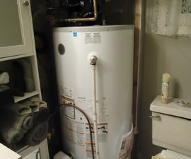 'Sliding wall panels' for around hot water heater