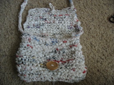 Plastic Bag Knitted Purse!