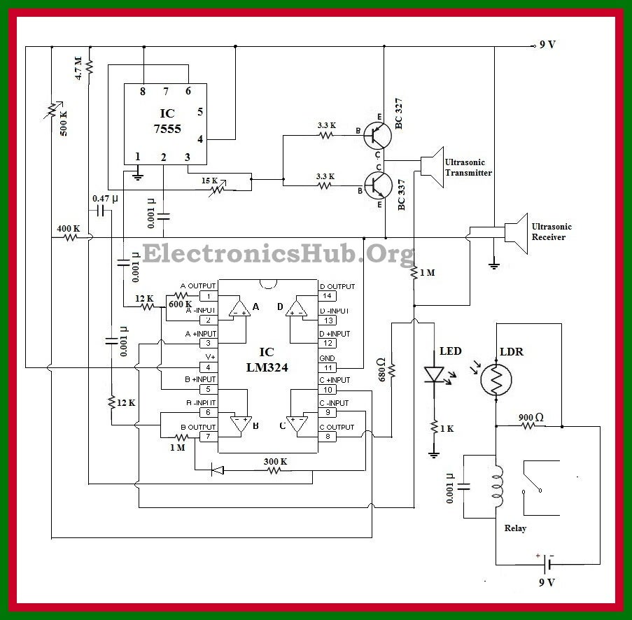 Automatic Doorbell System With Object Detection Remote Controlled Toy Car Circuit Diagram Engineersgarage