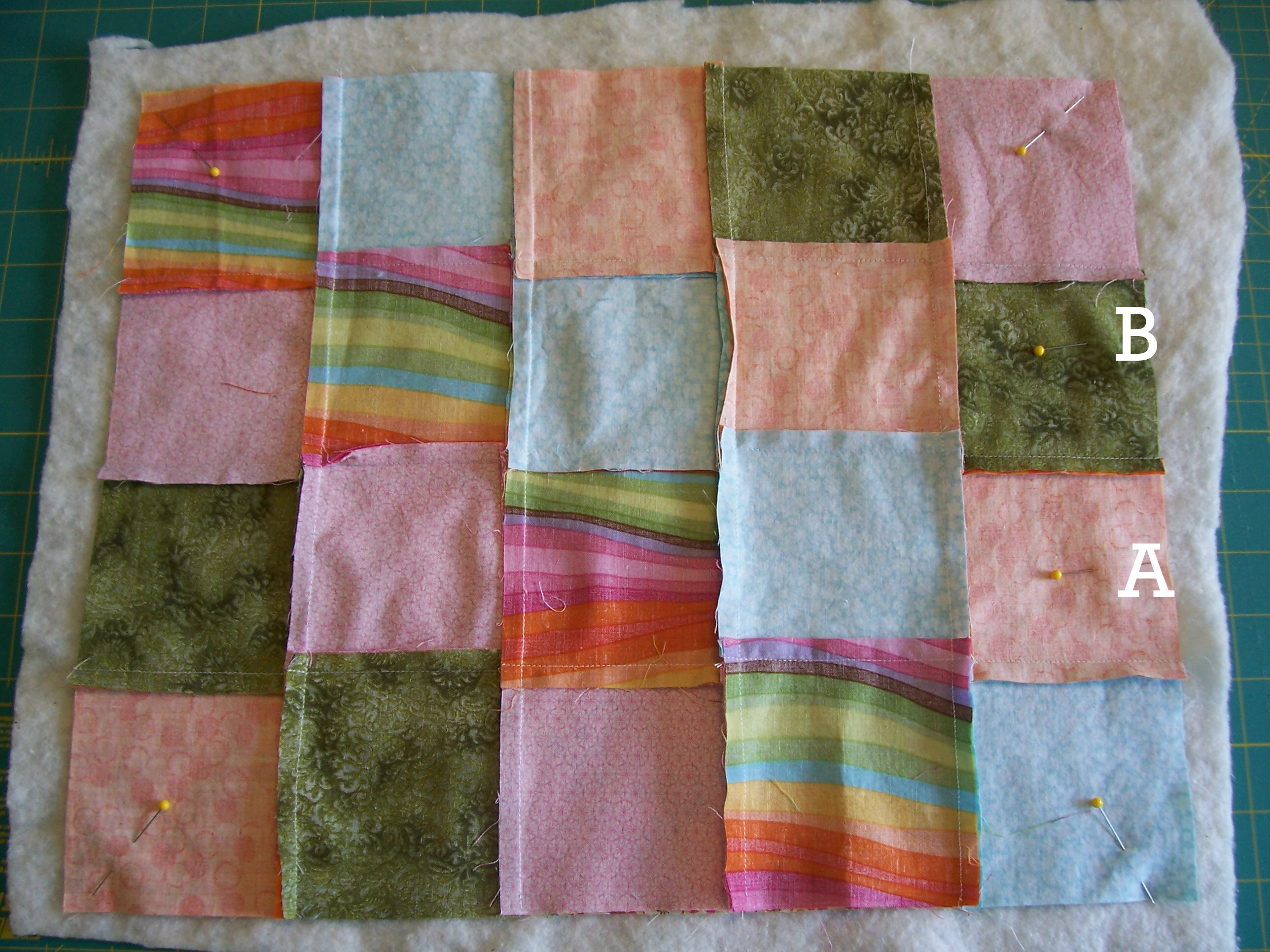 Picture of Layer and Pin Quilt Parts