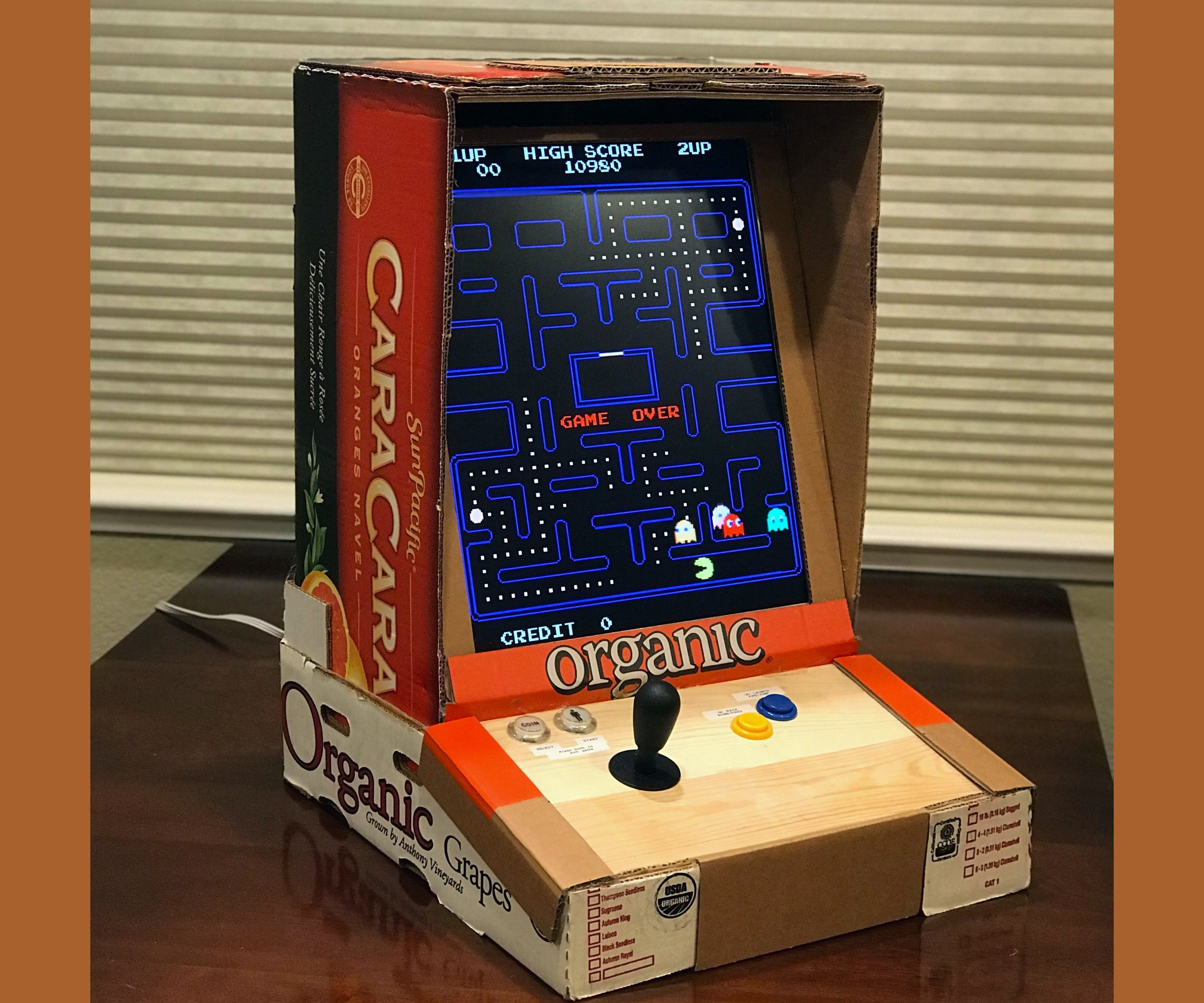 Cardboard Bartop Arcade Cabinet 7 Steps With Pictures