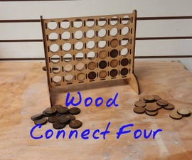 Wood Connect Four Game