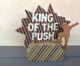Wooden Skate Trophy Out of Recycled Skateboards