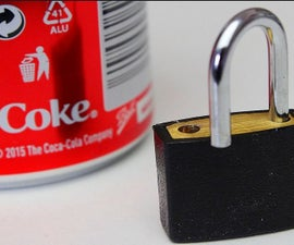 How to Open a Lock With a Coke Can