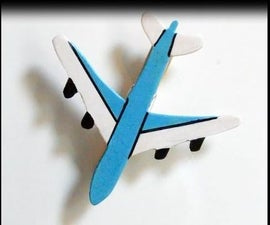 Making a Magnet Note Holder Airplane