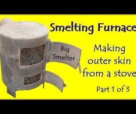 "Smelting Furnace. Project ""Big Smelter"". Making Outer Skin - Part 1 of 3"
