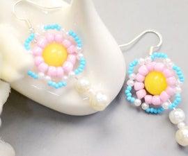 Beebeecraft Tutorials on Making Macaron Flower Earrings