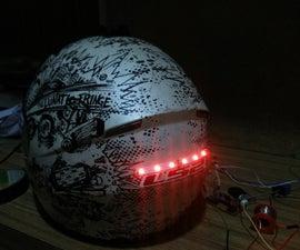 Wireless motorcycle/bicycle helmet brake light ..very easy