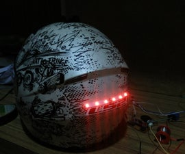 Wireless motorcycle/bicycle helmet brake light ..very easy