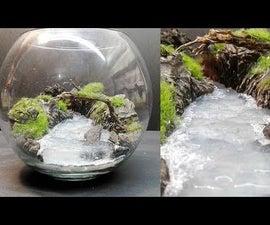 DIY River Terrarium Diorama Aquascape