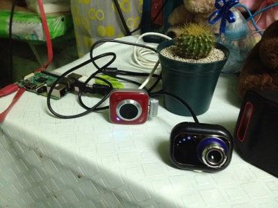 Portable Monitoring System Using Raspberry Pi (2 USB Camera)