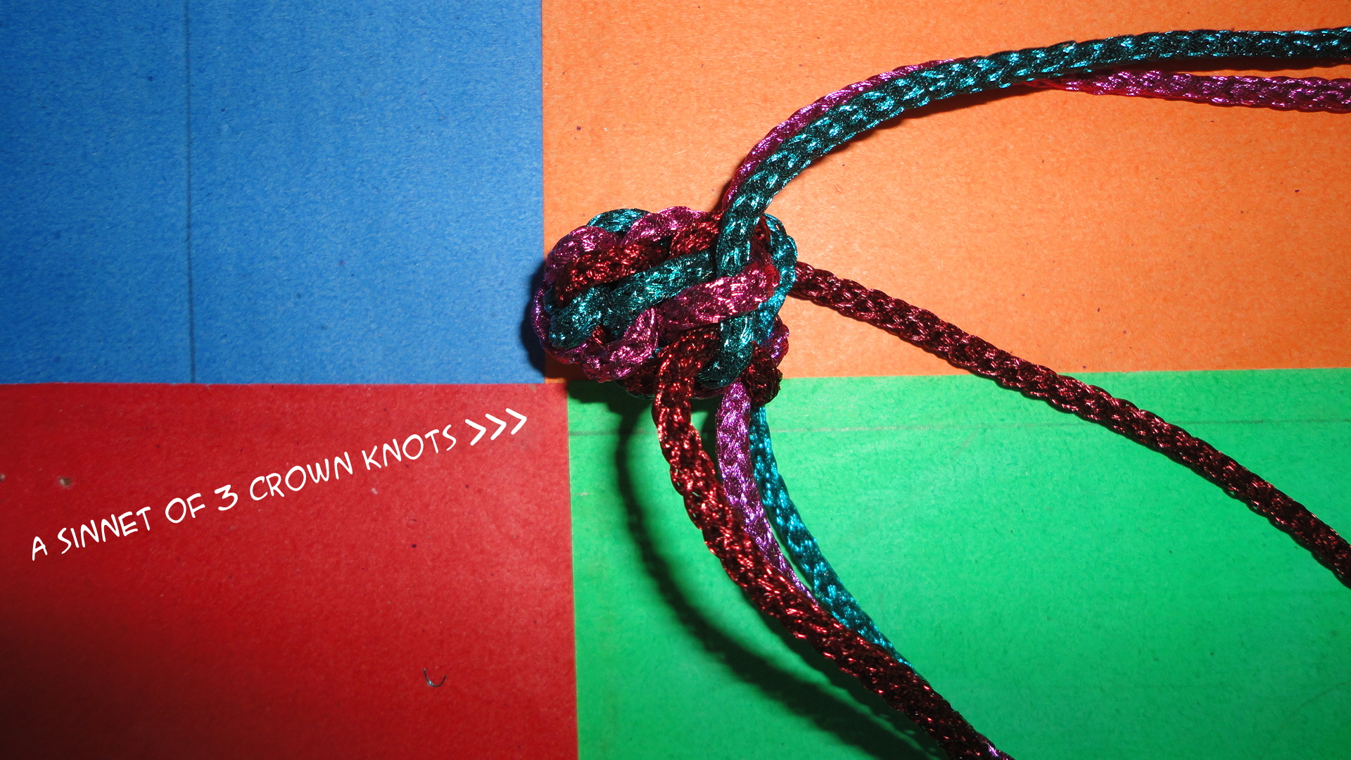 Picture of Keep Working Up and Making Crown Knot 3 More Times...