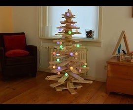 A Pallet Christmas tree