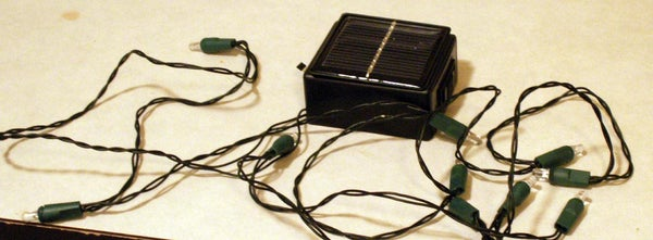 Make Your Own Solar Powered Led String Lights.  ($5 Bucks Max)