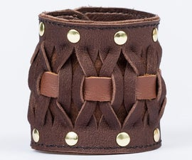 Simple Woven Leather Bracelet (With Improved Version Expansion)