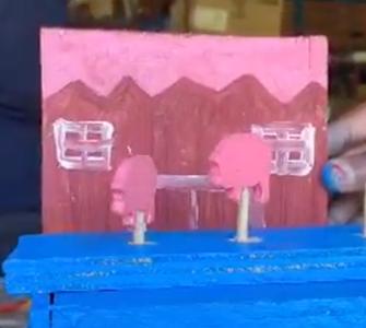 Glueing Decorations (Barn Piece)