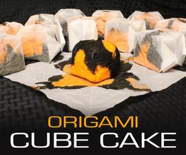 Origami Cube Cakes