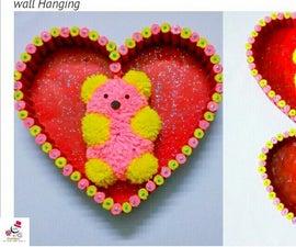 DIY Teddy Bear Wall Hanging | How to Make Woolen Teddy Bear Wall Decor | Room Decor | DIY CraftsLane