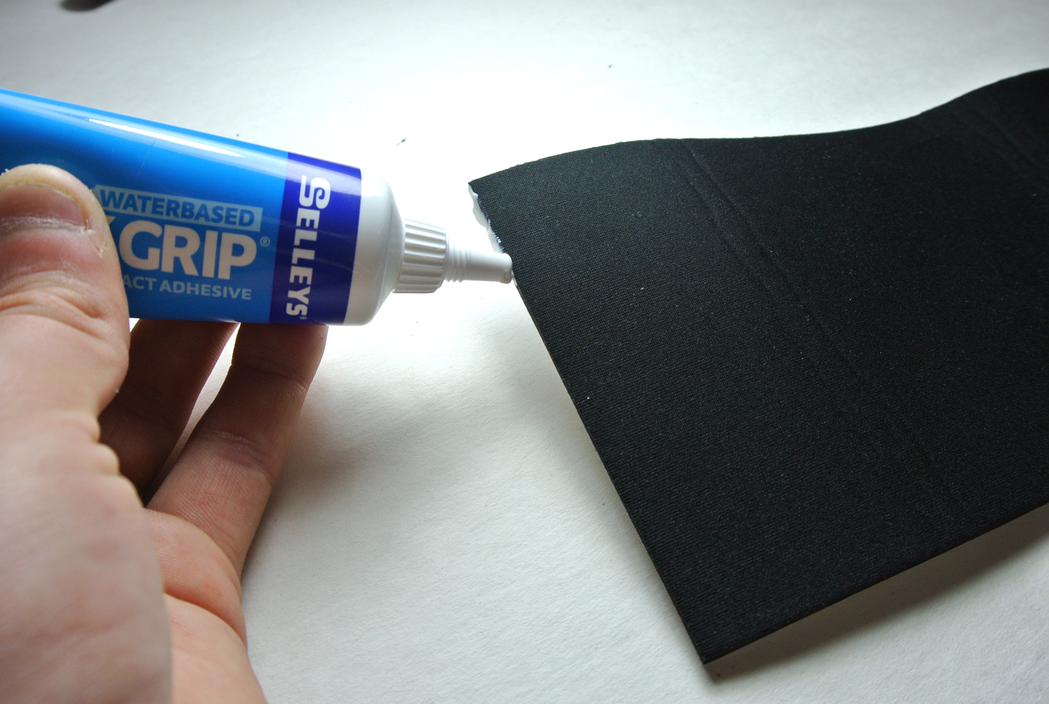 Picture of Apply Glue to Neoprene